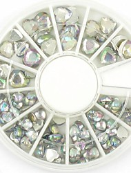 Mixed Sizes Heart Nail Art Crystal Acrylic Rhinestones Glittery Nail Jewelry for DIY Nail Design