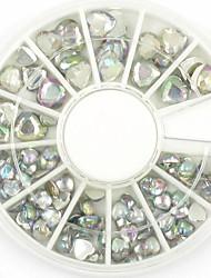 Смешанные размеры сердца ногтей Art Crystal акриловые стразы блестящий лак для украшения для поделок дизайна ногтей