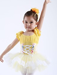Kids' Dancewear Dresses&Skirts / Tutus Children's Cotton / Tulle Short Sleeve 110:50,120:53,130:56,140:59,150:61,160:64