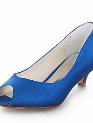 Women's Wedding Shoes Heels/Peep Toe Heels Wedding Black/Blue/Yellow/Pink/Purple/Red/Ivory/White/Silver/Champagne