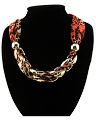 Rainso® Women's  Short Voile Scarf Necklace with Shiny CCB Golden Plated  Wrap Chains