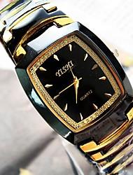 Men's Barrel Shape Dial Alloy Band Quartz Fashion Watch (Assorted Colors) Cool Watches Unique Watches