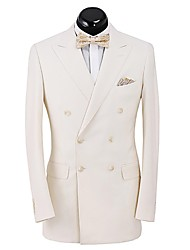 Off-White  Solid   Tailored Fit  Suit  jacket  In  100% Wool