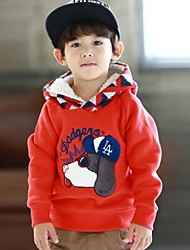 Boy's Fashion Dog Pattern with Hooded Warm Hoodies