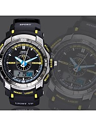 OHSEN® Men's Black Round Dial Silicone Band Japan Movement Fashion Diving Sport Watch Wristwatch Cool Watch Unique Watch