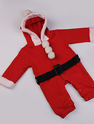 Boys' Christmas Hooded  Jumpsuits