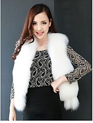 Fur Coats Women's Fox Wool Rabbit Splicing Vest(More Color)