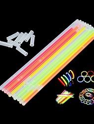 45pcs bracelets multi couleur fluorescente bâtons nuit de préchauffage pour la fête, noël, fêtes, cérémonie (couleur aléatoire)