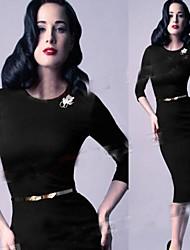 VICONE Women's Long Sleeve Sexy Bodycon OL Slim Dresses