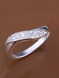 925 Silver Plated Diamond Zircon Statement Rings(1 Pc)