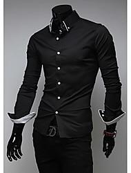 Johnny Men's Fashion Stand Collar Long Sleeve Slim T-Shirts