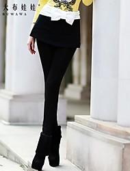 moda doll® de las mujeres rosadas arco pantalones una línea delgada