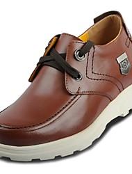 Zapatos de Hombre Casual Pelo de Ternero Oxfords Negro/Marrón