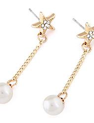 personnalité de la mode lucky star boucles d'oreilles perle