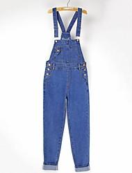 correa de mezclilla flojo jumpsuits capris de sagetech®women