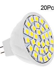 5W GU5.3(MR16) LED Spotlight 30 SMD 5050 420 lm Warm White / Cool White DC 12 V