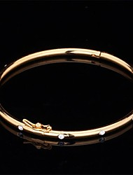 U7® Simple Bangle 18K Real Gold Platinum Plated Fine Bracelet Bangle Rhinestone Fashion Jewelry