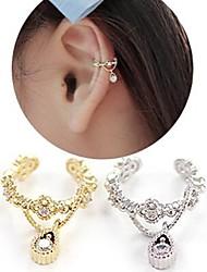 Brinco Punhos da orelha Jóias Pedras dos signos Casamento / Pesta / Diário / Casual Liga Dourado / Prateado
