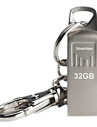 Strontium Silver USB Flash Drive 32GB with Metal Key Chain