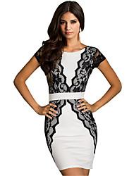 Wiivip Women's Fashion Lace Bodycon Dress