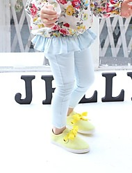 Girl's Solid Pants,Cotton Blend Spring / Fall Blue / Yellow