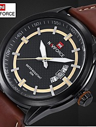 Men's Dress Watch Luxury Brand Design Quartz Watches Miyota Movt Genuine Leather Band Waterproof (Assorted Colors)