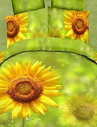 baolisi® 3d mode imprimé floral literie confortable de quatre pièces