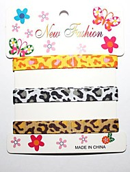 3/8 Inch Haggard Leopard Grain  Pattern Rib Ribbon Printing Ribbon- 1 Yards Per Roll (Three Color One Card)