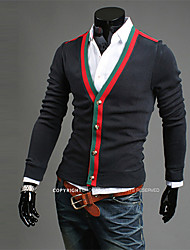 OUER Men's Casual Korea Style Slim Cardigan