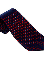 Dark Blue&Red Dots Tie