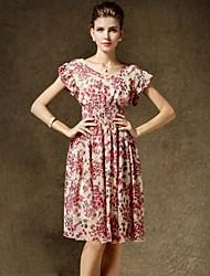 floreale abito in chiffon stampa di yinqian®women