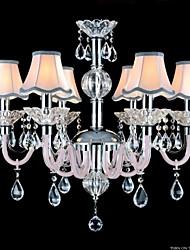colore rosa lampadari di cristallo modello lampadari di moda E14 * 6