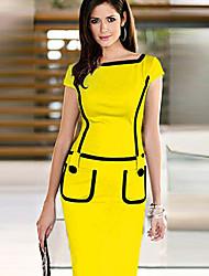 Mantel Kontrastfarbe Kleid messic Frauen