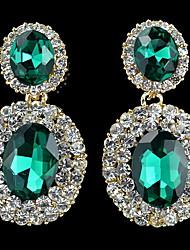 YUAN Fashion Casual High Quality Rhinestone Earrings