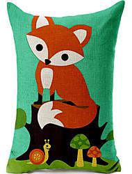 raposa bonito algodão / fronha decorativo linho impressa
