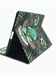 roi de l'étui en cuir PU de modèle de série de la forêt avec support et fente pour carte pour iPad 2/3/4