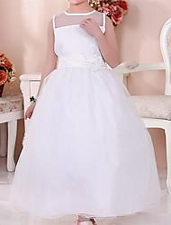 Snotty kid's Fashion Cute Elegance Round Collar Sleeveless Mesh Dress