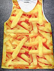 Apricot Men's 3D Pattern Print Vest