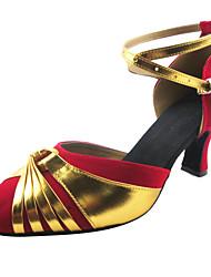 los tacones altos de las mujeres zapatos de baile latino personalizables buckie gamuza tacón personalizable (más colores)
