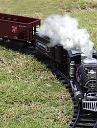 o simulati8on pode exalar fumaça do trilho de trem a vapor