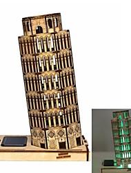 Пизанская башня DIY цвета рисунок и автоматическое ощущение солнечного света