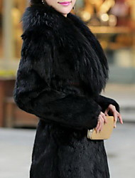 Sergent Women's Elegant Faux Fur Coat