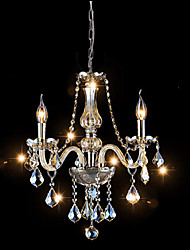 40W Modern/Contemporary / Traditional/Classic Crystal Electroplated Glass ChandeliersLiving Room / Bedroom / Dining Room / Kitchen /