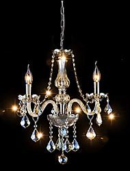 40W Contemporain / Traditionnel/Classique Cristal Plaqué Verre LustreSalle de séjour / Chambre à coucher / Salle à manger / Cuisine /