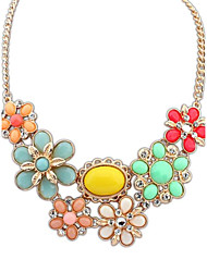 Women's Fashion Fresh Sweet Flowers Clavicular Alloy Necklace