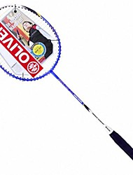 gelb / blau / lila Aluminiumlegierung Kohlen Amateur-Badminton-Schläger Luftstrom