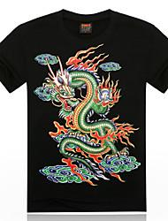 3d algodão de manga curta de animais estereoscópico t-shirt dos homens citysailor