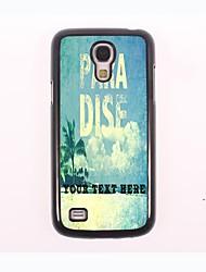 caja del teléfono personalizado - caso del metal del diseño de la playa para Samsung Galaxy S4
