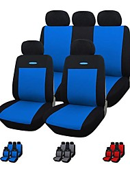 9 Pieces/Set Blue Red Gray Car Seat Covers Universal Fit Material Polyester Material with 3mm Composite Sponge