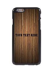 caso de telefone personalizado - marrom caso prancha design de metal para o iPhone 6